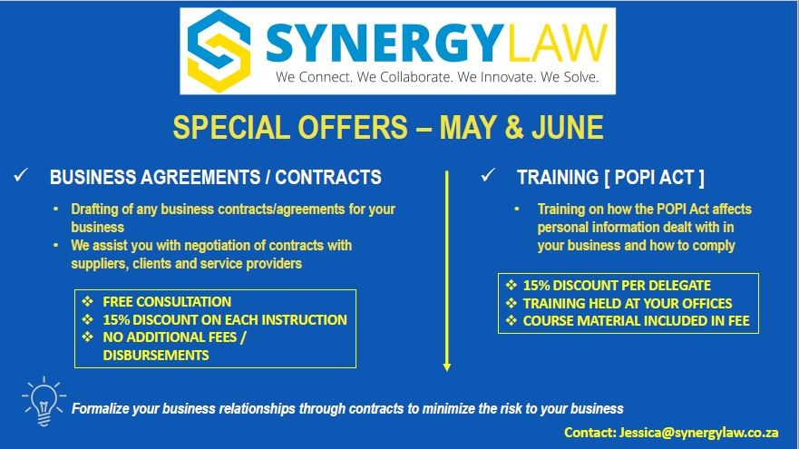 Synergy Law May & June Special