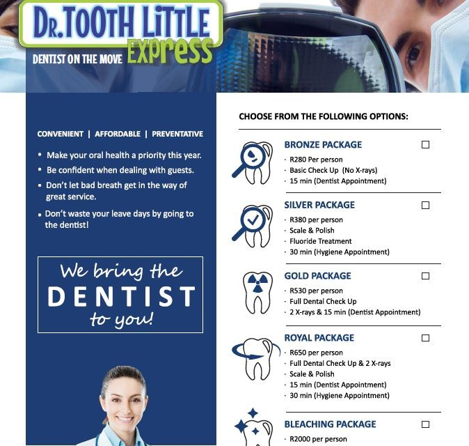 Dr. Tooth Little Dentist on the MOVE